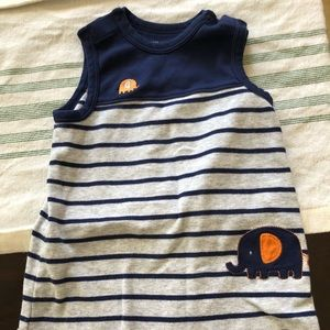 Sleeveless summer romper for baby boy